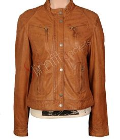 Women Teen Style Brown Leather Jacket. #Menswear #leatherjacket #coat #outfit #Fashion #Kids #Women #Jacket - For more queries visit: Slimfitjackets.com
