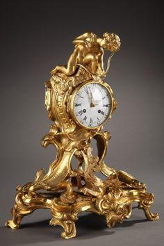 A Louis XV Dragon clock