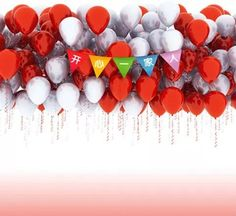 5X7ft  Happy Families Balloons Background For Photos Studio Muslin Computer Printed Digital Cloth Photography Backdrops #Affiliate