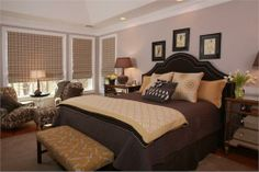 Relaxing Transitional Bedroom by Susan Victor on HomePortfolio