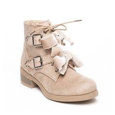 Buffalo Damen Biker Boots braun dunkel Größe:36, 37, 38, 39