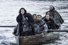 Jon Snow and the survivors of the Night King's raid on Hardhome