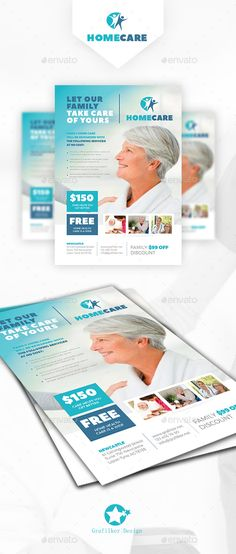 """Home Health Care Flyer Template PSD, InDesign INDD. Download here: <a href=""""http://graphicriver.net/item/home-health-care-flyer-templates/16126911?ref=ksioks"""" rel=""""nofollow"""" target=""""_blank"""">graphicriver.net/...</a>"""