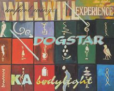 "Will Dogstar Ka Body Light Unfurl Wings Experience on a grid of History Oil on Board  16 x 20"" $499.99"