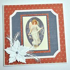 KvetaP / Vianočná pohľadnica Scrapbooks, Decoupage, Christmas Cards, Frame, Vintage, Decor, Christmas E Cards, Picture Frame, Decoration