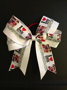 One Direction  Softball Bow Buy from @igotbows on Instagram