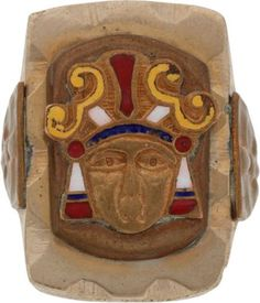 """Elvis-Gifted Indian Head RingThere were also three Elvis rings included in this latest auction, but the one above did not sell. I'm not surprised. The reason – Elvis never wore it. For the other two rings, the titles of the item descriptions say """"Elvis Owned and Worn"""", but this ring was just """"Elvis Owned"""" The description notes that the ring was given to Elvis by Felton Jarvis, who produced most of Elvis' records from the mid-1960s until his death in 1977"""