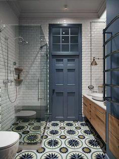35 Stunning Modern Farmhouse Bathroom Decor Ideas Make You Relax In If you are looking for [keyword], You come to the right place. Below are the 35 Stunning Modern Farmhouse Bathroom Decor Ideas. Art Deco Bathroom, Bathroom Tile Designs, Bathroom Colors, Bathroom Interior, Bathroom Ideas, Master Bathroom, Bathroom Renovations, White Bathroom, Master Baths