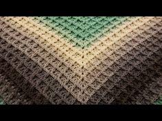 The Waffle Shawl Crochet Tutorial! Crochet Shawl Free, Crochet Shawls And Wraps, Crochet Scarves, Crochet Stitches Patterns, Stitch Patterns, Crochet Waffle Stitch, Crochet Triangle, Crochet Bedspread, Manta Crochet