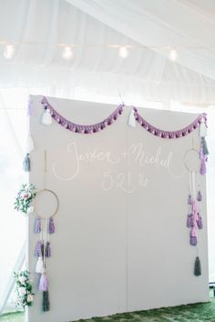 This North Carolina wedding is filled with Boho chic details and romantic vibes. Photos by Allison Kuhn Photography. Gold Beach Wedding, Beach Wedding Photos, Mod Wedding, Purple Wedding, Dream Wedding, Wedding Reception Planning, Tent Reception, Wedding Venues, Girl Birthday Decorations