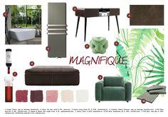 Inspiration Moodboard Magnifique: Duravit, Vasco, Audiac Living, Cosentino, Rolf Benz, freistil, Graham & Brown