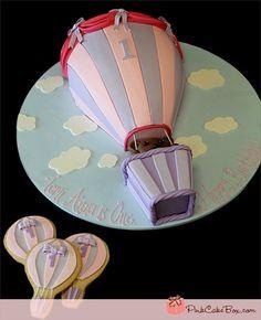 Hot Air Balloon Birthday Cake by Pink Cake Box