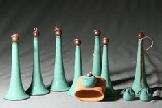 Pinning for Ashleigh - Handcrafted Pottery Nativity Set Nativity Scene Creche Manger Scene Jesus Christmas Wheel Thrown Terra-cotta with Turquoise Upcycled Copper