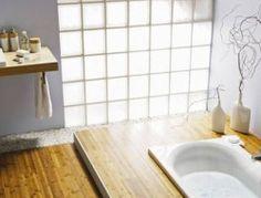 brique de verre pour mur salle de bain decoration zen - Brique De Verre Chambre