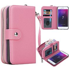 iPhone 7 Plus Case, Pasonomi Magnetic Detachable Removable Wallet Zipper PU Leather Folio Flip Carrying Case with Strap and Credit Card Slot for iPhone 7 Plus (Pink)  http://topcellulardeals.com/product/iphone-7-plus-case-iphone-7-plus-zipper-wallet-case-pasonomi-pu-leather-protective-shell-detachable-folio-flip-holster-carrying-case-with-card-holder-for-iphone-7-plus/?attribute_pa_color=pink  Perfect Design for iPhone 7 Plus 5.5 inch(Big Size), Not fit for iPhone 7 4.7 inc