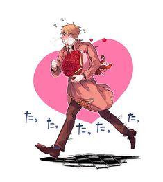 """なんとか(やまかわ) on Twitter: """"バレンタイン終わっちゃったけど描きました… """" Spamano, Usuk, Hetalia Characters, Fictional Characters, Hetalia England, Hetalia Fanart, Recent Events, My Hero Academia Manga, Axis Powers"""