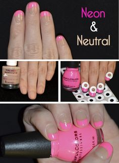 The easiest French nail design!