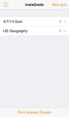 Sick of Grading? There's an App for That! InstaGrade for $1.99