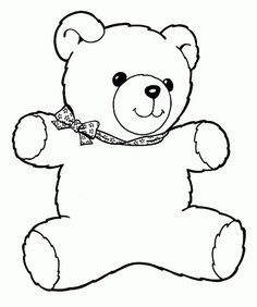 Printable Teddy Bear Coloring Pages Free