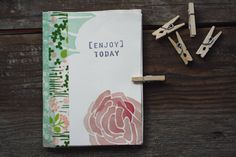 mini journal DIY, great idea for keeping closed. i have also seen little metal clips used.