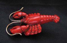 Bakelite lobster button.