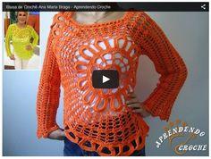 Cómo realizar blusa con diseño circular - explicación paso a paso en video   Todo crochet