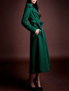 Women's Aline Wool Coat Winter Coats Maxi Trench by dresstore2000
