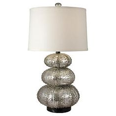 Stacked Sea Urchin Lamp, Silver