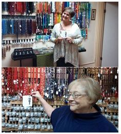 Flat Cathy Day at Three Diva Beads store in Milton Freewater, Oregon.