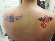 The angel and devil tattoo by GinningRanger.deviantart.com on @deviantART