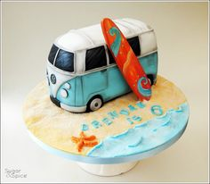 VW Camper Van cake by Sugar & Spice Gourmandise Gifts https://www.facebook.com/SugarandSpiceGourmandise