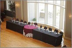 Head Table with Sweetheart Table in the middle