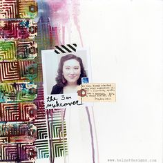 Julie encourages me to get my hands covered in paint and started my journey into exploring stencils in my paintings and art journal. I have a few she created in my collection. She has some great ideas about getting past the fear of making mistakes in art.