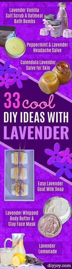 DIY Lavender Recipes and Project Ideas - Food, Beauty, Baking Tutorials, Desserts and Drinks Made With Fresh and Dried Lavender - Savory Lavender Recipe Ideas, Healthy and Vegan - DIY Projects and Crafts by DIY JOY http://diyjoy.com/diy-projects-lavender-herbs