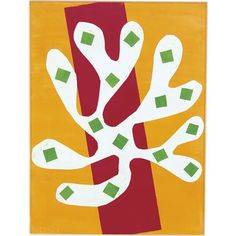 Henri Matisse - White Alga on Orange and Red