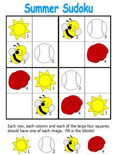 template Free Preschool, Preschool Worksheets, Preschool Learning, Teaching Kids, Math For Kids, Fun Math, Games For Kids, Sudoku Puzzles, Logic Puzzles