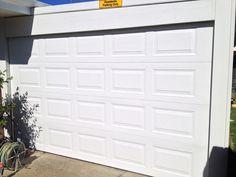 Surfmist panel lift garage door