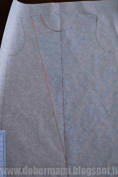 DIY vinovetoketjuhaalari (ohje kaavan kuositteluun ja ompeluun)