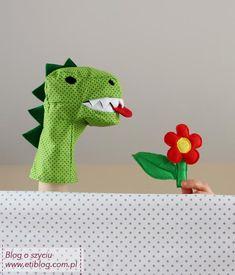 acd3b77485b77 Jak uszyć pacynkę dla dziecka w kształcie dinozaura - eti blog o szyciu - 1