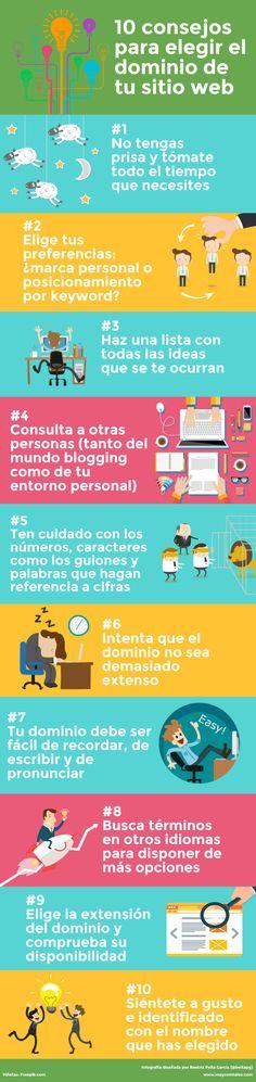 10 consejos para elegir el Dominio de tu Web #infografia #infographic #marketing