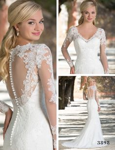 Twilight fans dream of having a wedding dress just like Bella's. Here's how you can get that amazing Twilight wedding dress that will make your future husband eternally enchanted! Lace Wedding Dress, Wedding Dress Trends, Long Sleeve Wedding, Wedding Dress Styles, Bridal Dresses, Wedding Gowns, Bella Wedding Dress Twilight, Sincerity Bridal, Bella Dresses