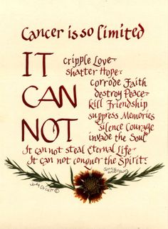 Cancer Survivor's Poem  A very meaningful poem artfully created by QuilliGraphy