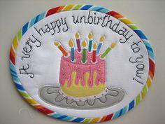 Happy Unbirthday Mug Rug by mamacjt, via Flickr