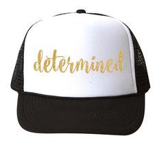 04f90034b80 DETERMINED Glitter Trucker Hat. Cute HatsSnapback HatsGymnasticsFitnessSnapback  CapCalisthenicsBall Caps