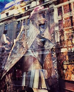 #LOVE the #reflection of the #London streets in the #window of #LibertyLondon #DepartmentStore. by maortlv