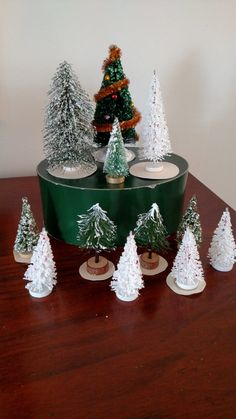 Check out this item in my Etsy shop https://www.etsy.com/listing/465407668/collection-of-12-bottle-brush-trees