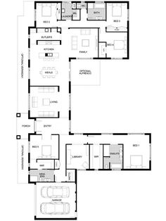 Plan Friday: 5 bedrooms with office Floor Plan Friday: 5 bedrooms with office 5 Bedroom House Plans, Family House Plans, New House Plans, Dream House Plans, Small House Plans, House Floor Plans, Modern Floor Plans, Home Design Floor Plans, Modern House Plans