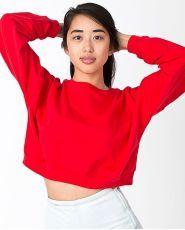 California fleece cropped sweatshirt (5336)