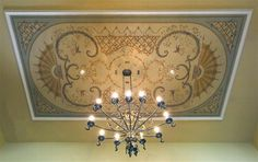 THIS is a GREAT SITE so many great tutorials and SOOO many beautiful photos with awesome projects.  http://www.jeffhuckabypainting.com  Canvas Ceilings and Panels  Below are examples of canvas ceiling projects. The painting is done off-site and, once completed, can be installed in a matter of a few hours. The advantages of this are many. There is very little on-site disruption. Also, the level of detail that can be achieved by painting the piece in the studio (off-site) is remarkable. The…