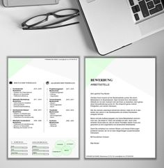 CREATIVE in der Farbe grün Creative, Resume, Templates